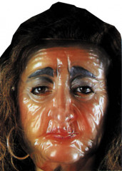Plastic Old Female Tran Mask