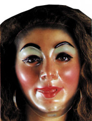 Plastic Young Female Tran Mask