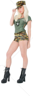 Playboy Bootcamp Babe Adult Costume