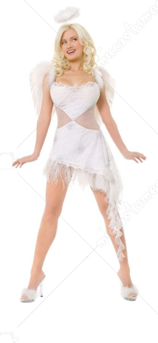 Playboy Hefs Angel Adult Costume