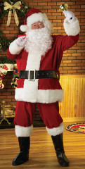 Plush Regal Santa Suit Adult Costume