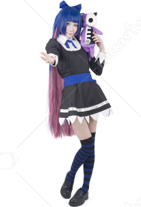 Panty & Stocking with Garterbelt Stocking Black Cosplay Costume