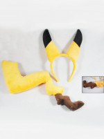 Pokemon Pikachu Cosplay Ears Tail Set