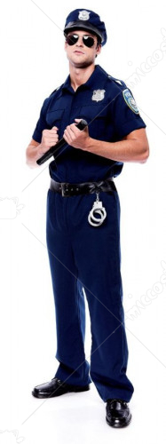 Police Officer Mens Adult Costume
