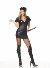 Police Officer Zip Dress Adult Costume