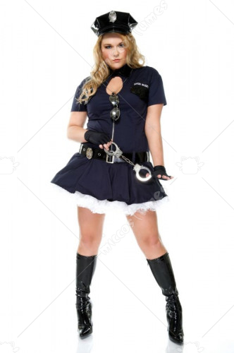 Police Playmate Adult Plus Costume