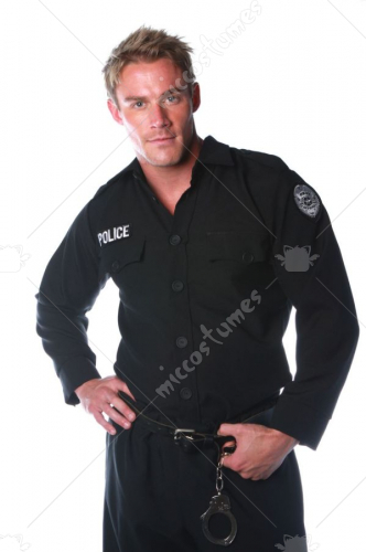 Police Shirt Mens One Size Adult Costume