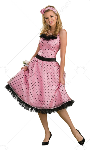Polka Dot Prom Adult Costume