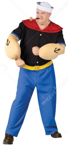 Popeye Plus Size Adult Costume