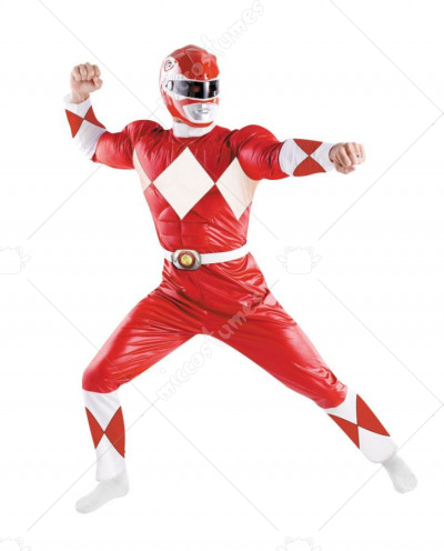 Power Ranger Red Adult Costume