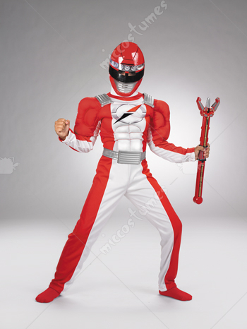 Power Ranger Red Muscle Costume