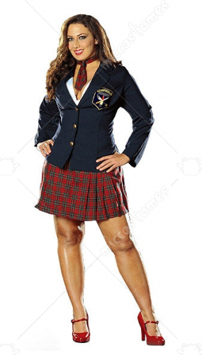 Prep School Delinquent Adult Plus Costume