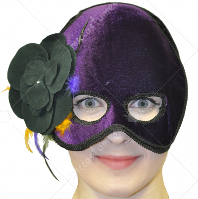 Purple Best Ever Mask with Flower
