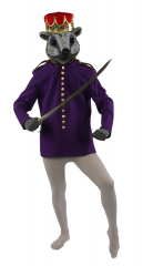 Purple Nutcracker Or Mouse King Coat Adult Costume