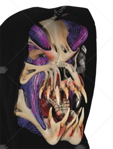 Purple Predator Musculature Mask