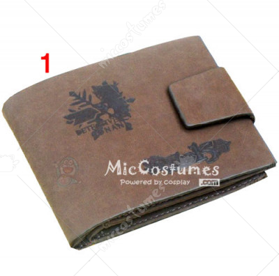 Quarter of Silence Conan Bifold Leather Wallet Grey