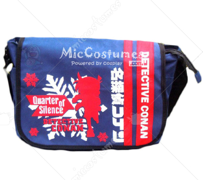 Quarter of Silence Conan Red Print Blue Shoulder Bag