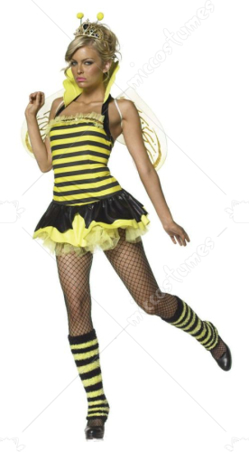 Queen Bumble Bee Sexy Adult Costume