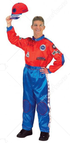 Racing Suit Red Blue Adult Costume