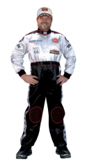 Racing Suit Black White Large Adult Costume
