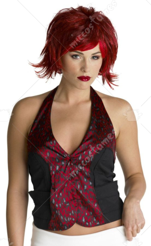 Razor Pixie Wig Burgundy Red