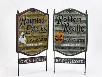Real Estate Sign Haunted Estate