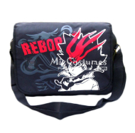 Reborn Red Print Black Satchel