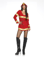 Red Hot Fire Fighter Sexy Girl Costume