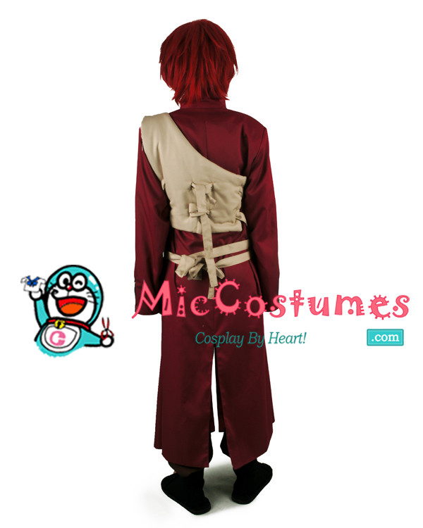 Rote Naruto Gaara Cosplay Kostüme