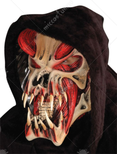 Red Predator Musculature Mask