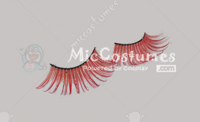 Red Shinning False Eyelashes For Loli Vixen Cosplay