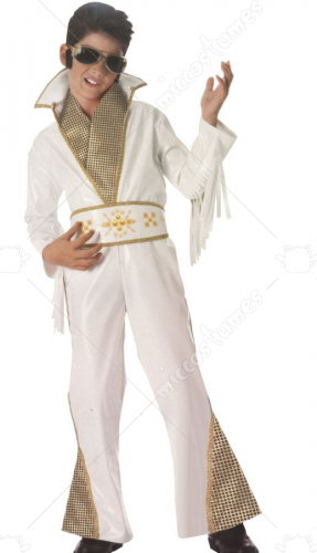 Elvis Kids White Vinyl Rock Star Costume
