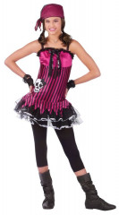 Rockin Skull Pirate Teen Costume