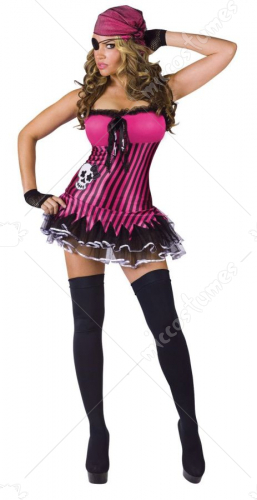 Rockin Skull Pirate Womens Costume