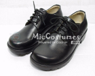 Round Toe Front Tie Leather Japanese School Shoes