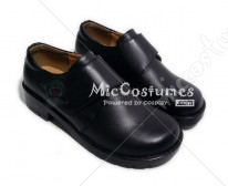 Round Toe Wrapped Vamp Leather Japanese School Shoes