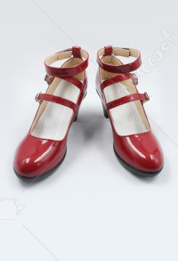 Dangan Ronpa Celestia Ludenberg Red Leather Lolita Cosplay Shoes