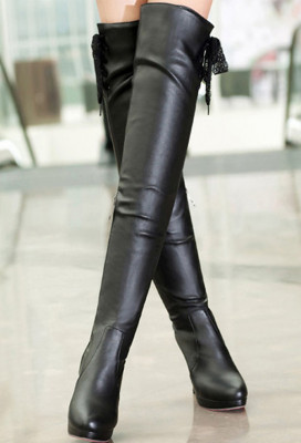 2018 Nier Automata 2B Boots Nier Black Over The Knee Boot New High Heel Boots