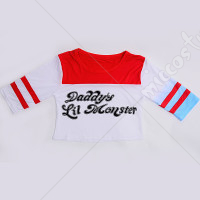 Suicide Squad Harley Quinn Cosplay T Shirt Costume