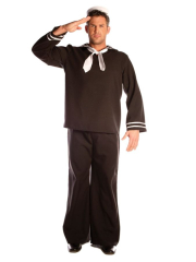 Sailor Complete Black Adult Costume