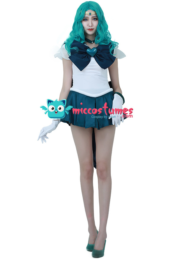 Sailor Moon Kaiou Michiru Sailor Neptune Cosplay Kostüm SuperS Version