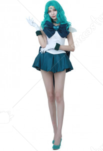 Sailor Moon Kaiou Michiru Sailor Neptune Cosplay Costume SuperS Version