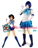Sailor Moon Mizuno Ami Sailor Mercury Cosplay Costume