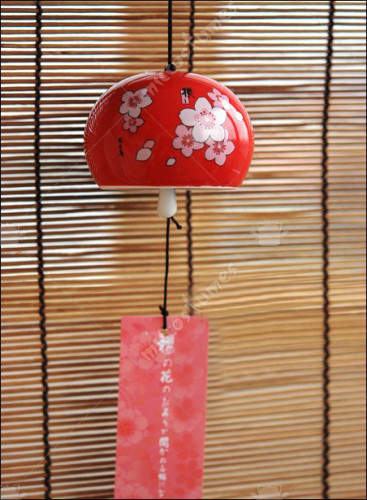 Sakura Japanese Ceramic Wind Chime