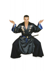 Samurai Black XL One Size Adult Costume