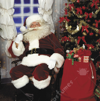 Santa Suit Crimson Imperial Adult Costume