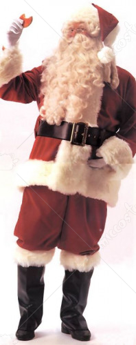 Santa Suit Deluxe Velvet Plus Size Adult Costume