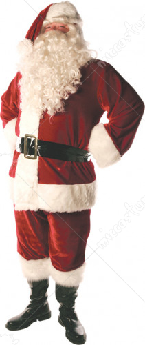 Santa Suit Lined Standard Adult Costume