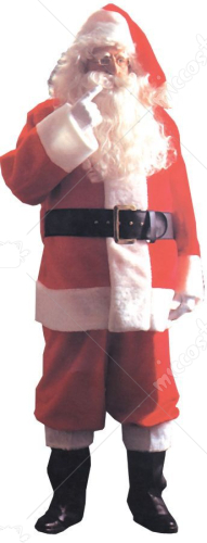 Santa Suit Plush 5591 Adult Costume