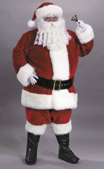 Santa Suit Prem Plush Red Adult Costume